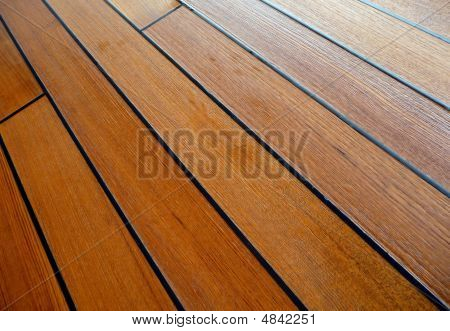 Wet Teakwood Deck