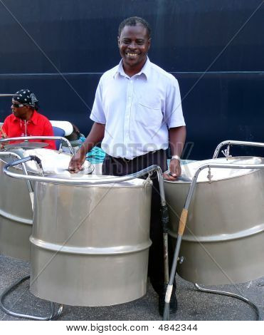 Steel Drum Player In Barbados