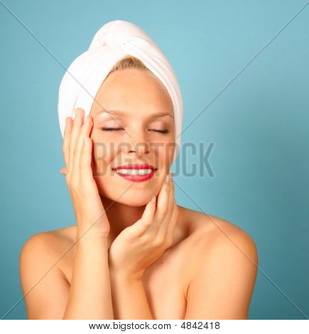 Beautiful Woman Having A Spa Treatment