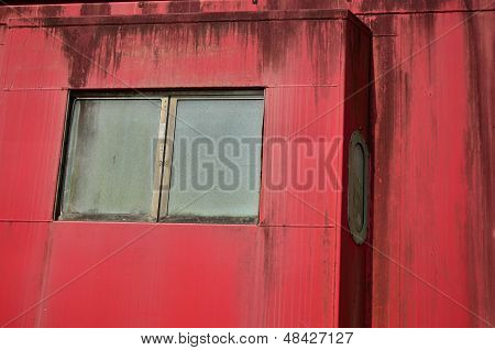 Red Caboose Windows