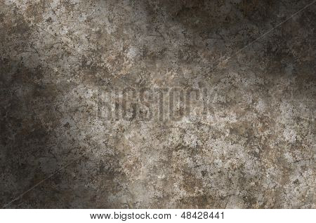 Distressed Metal Surface Texture Lit Diagonally