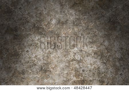 Distressed Metal Surface Texture Lit Dramatically