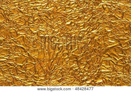 Crinkled Gold Foil Background