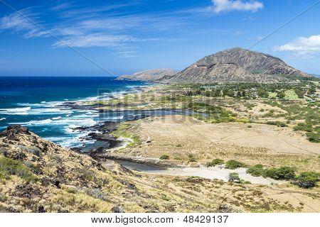 Halona Coastline And Koko Head Crater