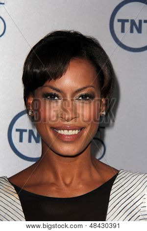 LOS ANGELES - JUL 24:  Kearran Giovanni arrives at TNT's 25th Anniversary Party at the Beverly Hilton Hotel on July 24, 2013 in Beverly Hills, CA
