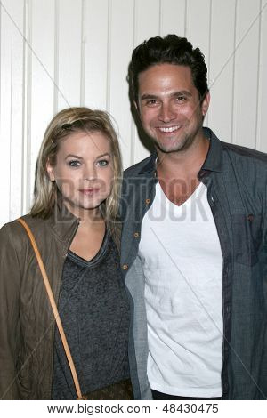 jul 25 kirsten storms brandon barash arrives at the general hospital