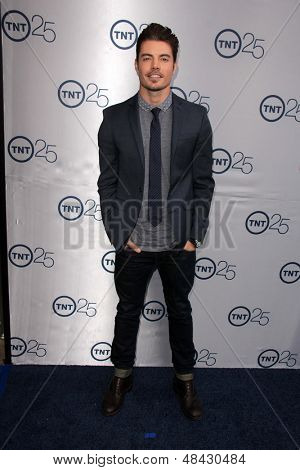 LOS ANGELES - JUL 24:  Josh Henderson arrives at TNT's 25th Anniversary Party at the Beverly Hilton Hotel on July 24, 2013 in Beverly Hills, CA