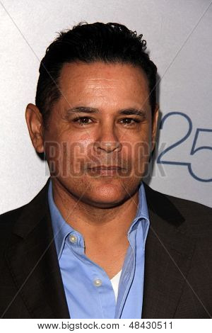 LOS ANGELES - JUL 24:  Raymond Cruz arrives at TNT's 25th Anniversary Party at the Beverly Hilton Hotel on July 24, 2013 in Beverly Hills, CA
