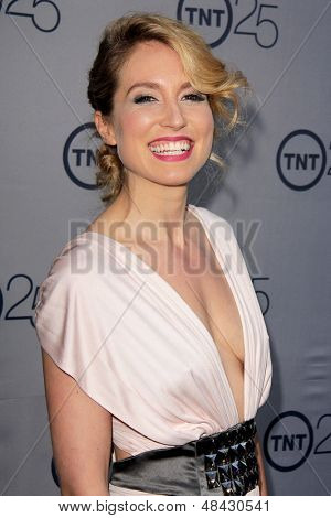 LOS ANGELES - JUL 24:  Sarah Carter arrives at TNT's 25th Anniversary Party at the Beverly Hilton Hotel on July 24, 2013 in Beverly Hills, CA