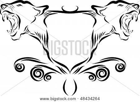 Lion Growling Emblem