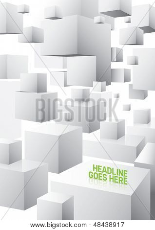 Vector of abstract cubical background