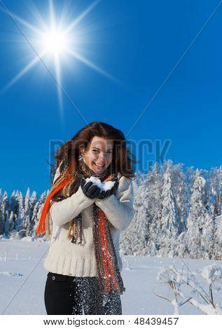Enjoying the Snow Midwinter Sunshine