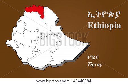 Ethiopia - Tigray Highlighted