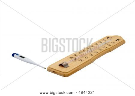 Pair Thermometers