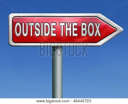 thinking outside the box great brilliant idea new innovation