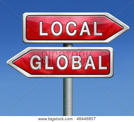 global or local national or international impact services business or world market economic globalization