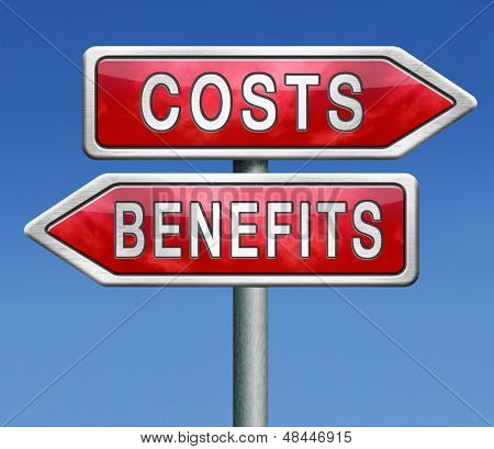 costs and benefits analysis business management investment value and analysis of financial risk cost versus value