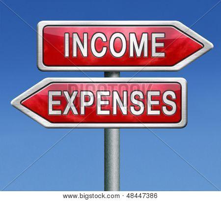 plano financeiro de receitas e despesas para auditoria de equilíbrio de fluxo de caixa ou dinheiro em livro, mantendo o custo e exp