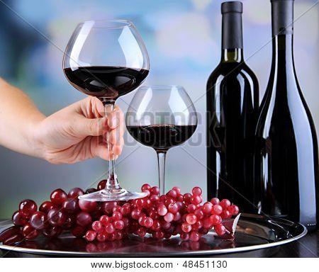 Wine tasting in restaurant