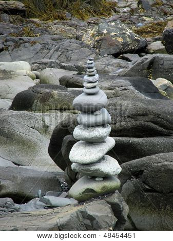 solo rock cairn