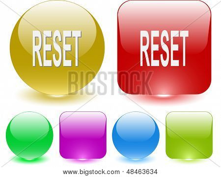 Reset. Interface element. Raster illustration.