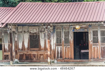 Traditional Wooden Villa Of Taiwan