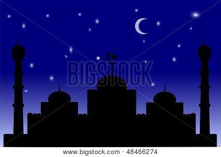 Mosque - Blue Gradation sky