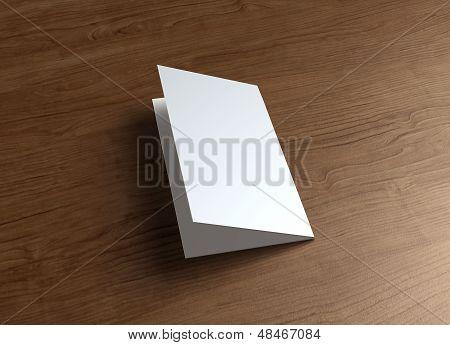 Leaflet Cover presentatie hout