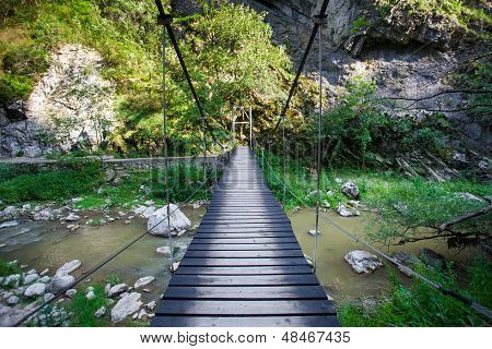 Suspended Bridge inside Turda Gorges National Park