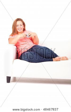 Overweighted Woman