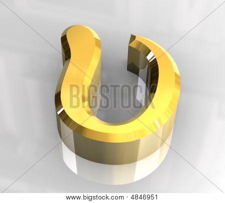 Upsilon Symbol In Gold