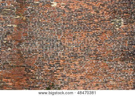Old Rugged Brick Wall