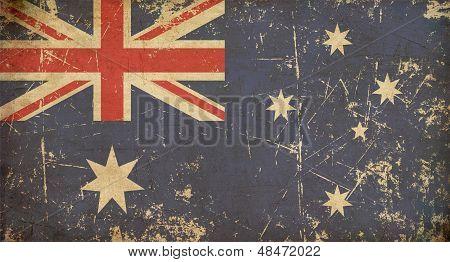 Australian Aged Flat Flag