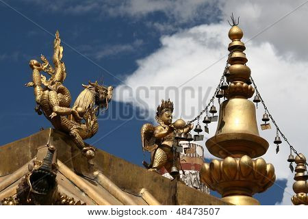 Monastery roof decoration, Lhasa, Tibet