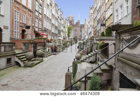 Mariacka Street in the Old Town of Gdansk, Poland