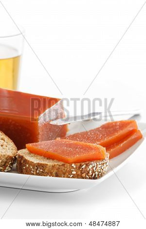 Quince Marmalade On Bread