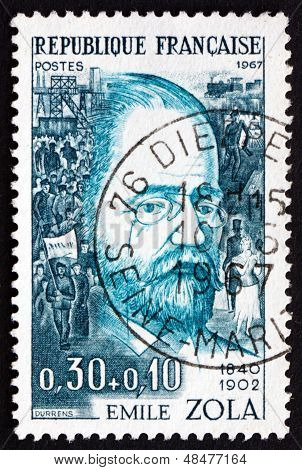 Postage Stamp France 1967 Emile Zola, Writer