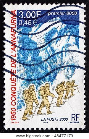 Postage Stamp France 2000 Expedition To Annapurna