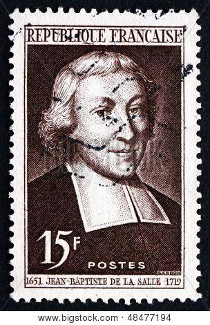Postage Stamp France 1951 Jean Baptiste De La Salle, Educator
