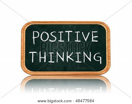 Positives Denken auf Blackboard-Banner