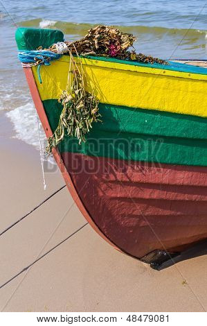 Prow of a fishing boat