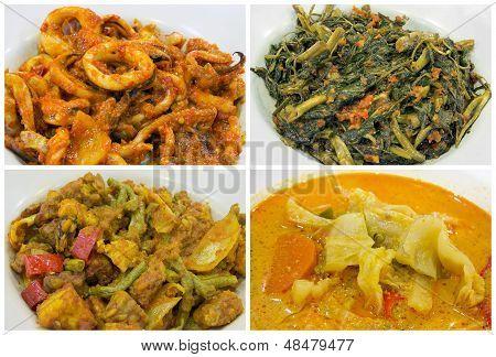 Southeast Asian Nyonya Peranakan Food Collage
