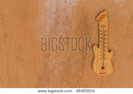 Thermometer Shaped Guitar