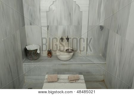 empty turkish hamam