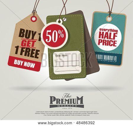 Vintage Style Price Tags Design