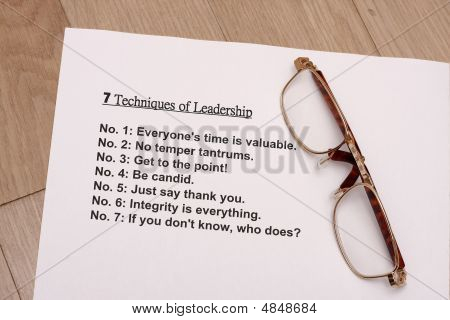 Seven Techniques Of Leadership