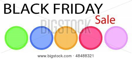 A Black Friday Banner With Circle Label