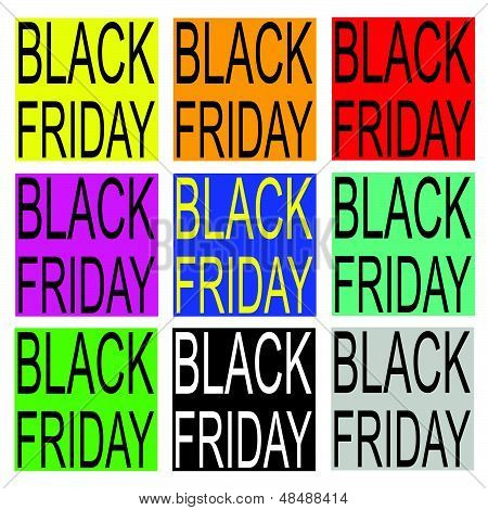 Black Friday On Colorful Banner For Special Price Products