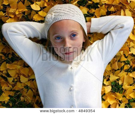 Gingko Girl With Hat
