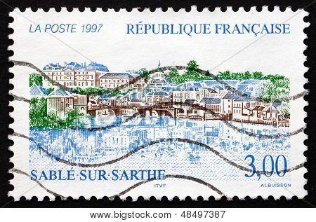 Postage Stamp France 1997 View Of Sable-sur-sarthe, Pays De La Loire